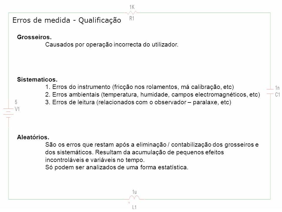 Erros de medida - Qualificação