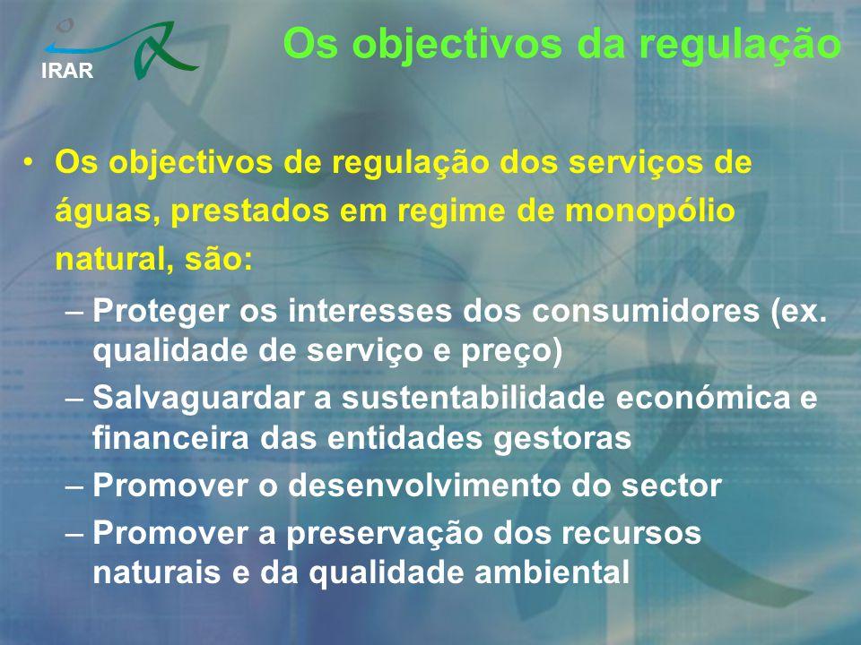 Os objectivos da regulação