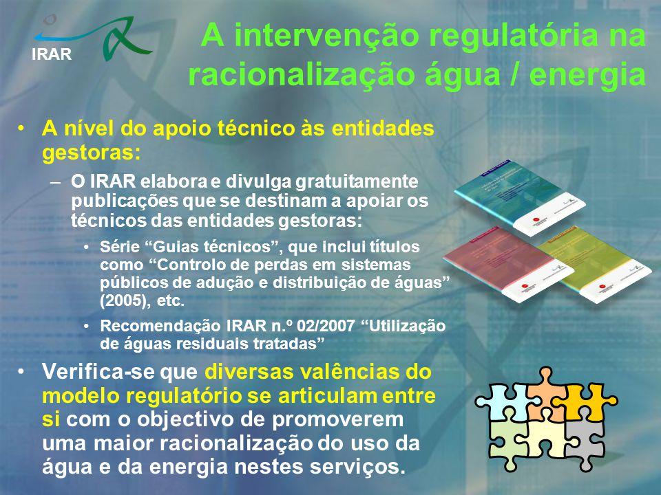 A intervenção regulatória na racionalização água / energia