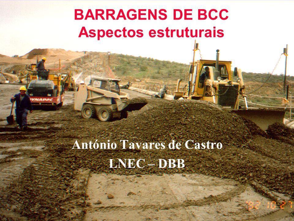 BARRAGENS DE BCC Aspectos estruturais