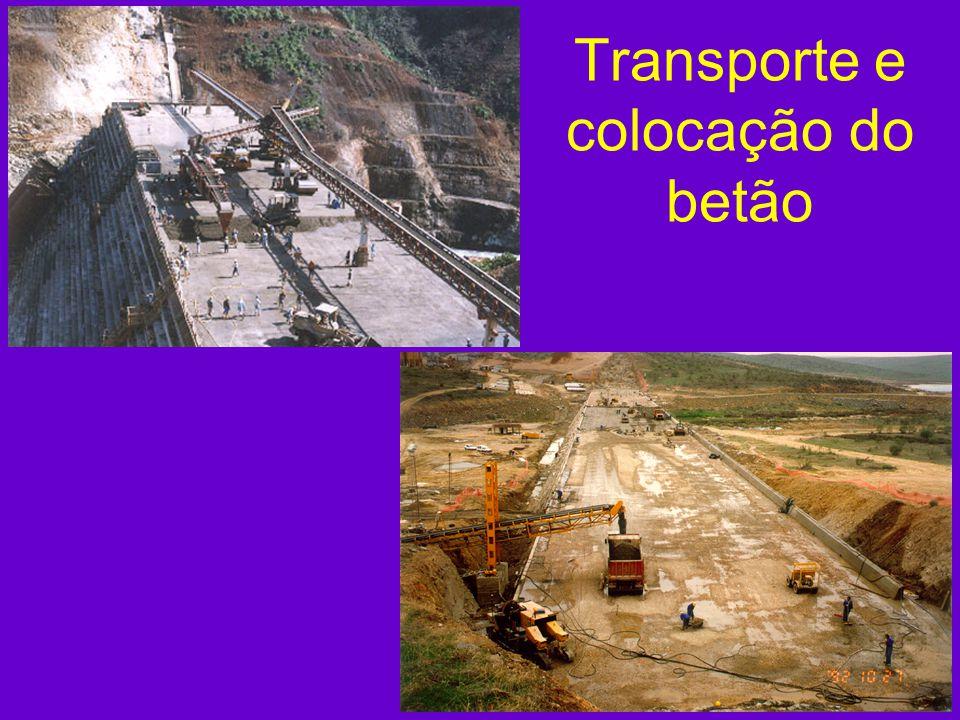 Transporte e colocação do betão
