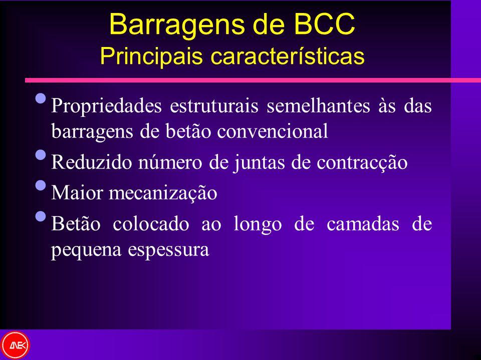 Barragens de BCC Principais características