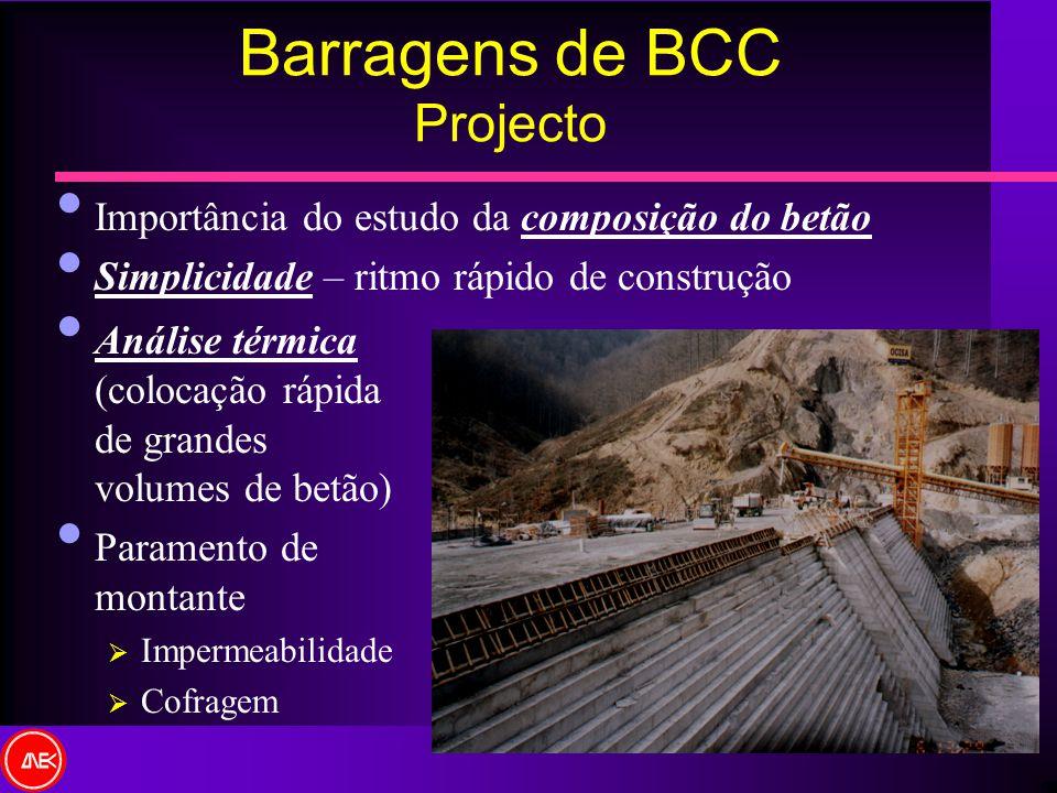 Barragens de BCC Projecto