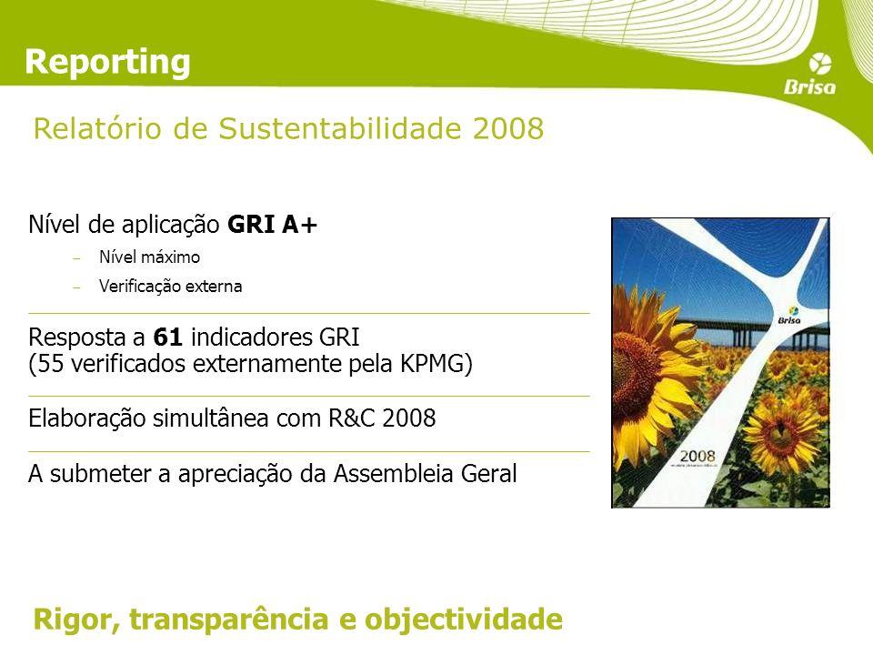 Reporting Relatório de Sustentabilidade 2008