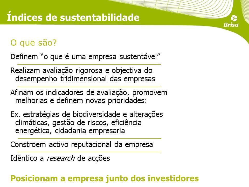 Índices de sustentabilidade