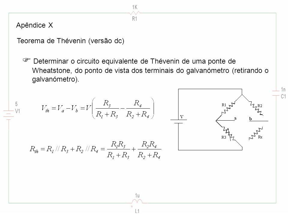  Determinar o circuito equivalente de Thévenin de uma ponte de