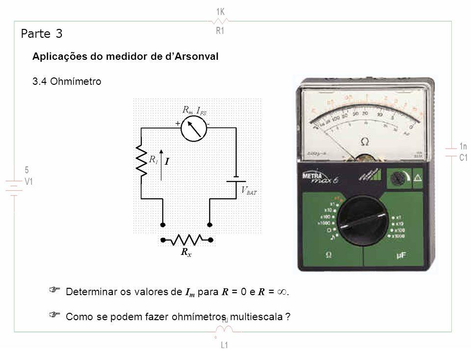  Determinar os valores de Im para R = 0 e R = .