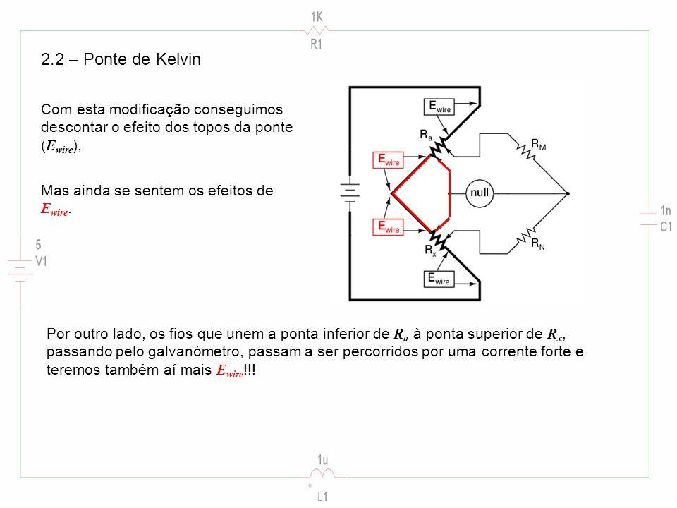 2.2 – Ponte de Kelvin Com esta modificação conseguimos