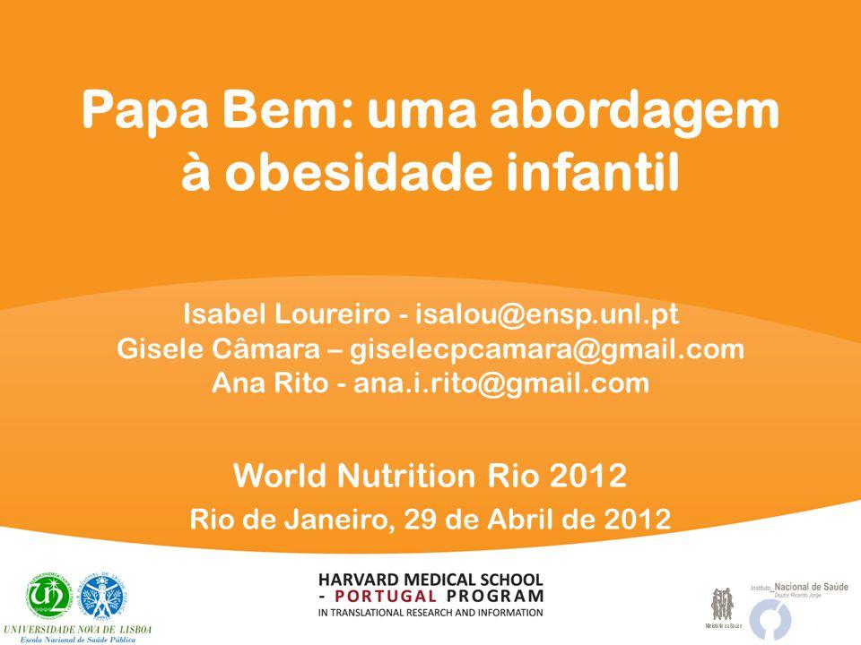 Papa Bem: uma abordagem à obesidade infantil