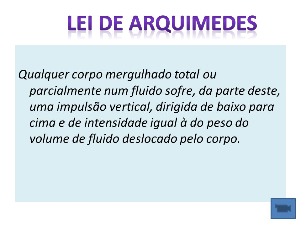 Lei de Arquimedes