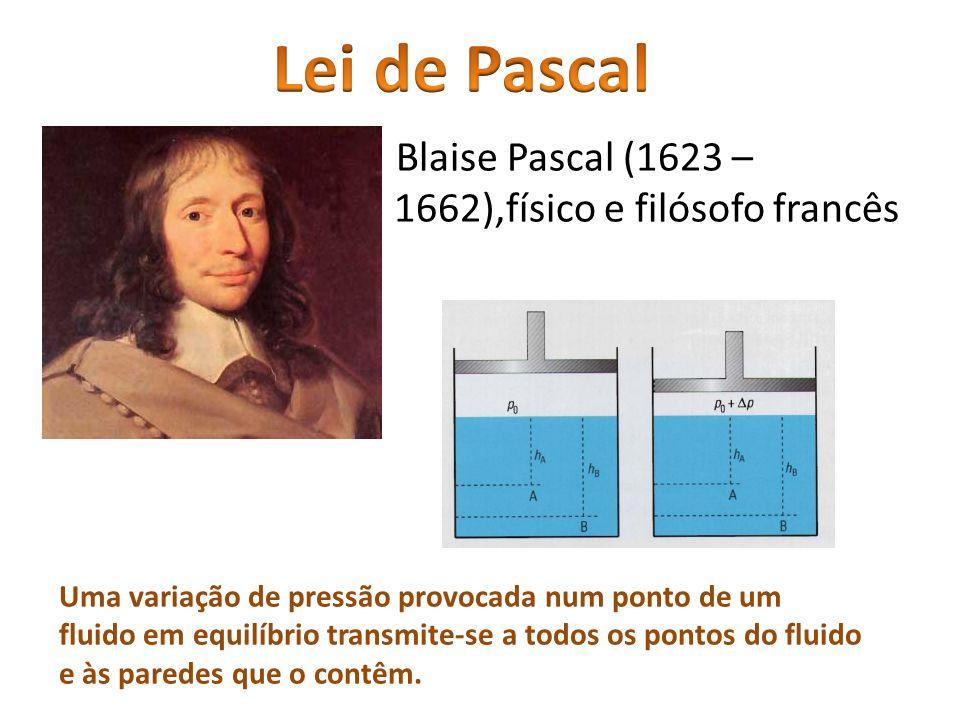 Lei de Pascal Blaise Pascal (1623 – 1662),físico e filósofo francês