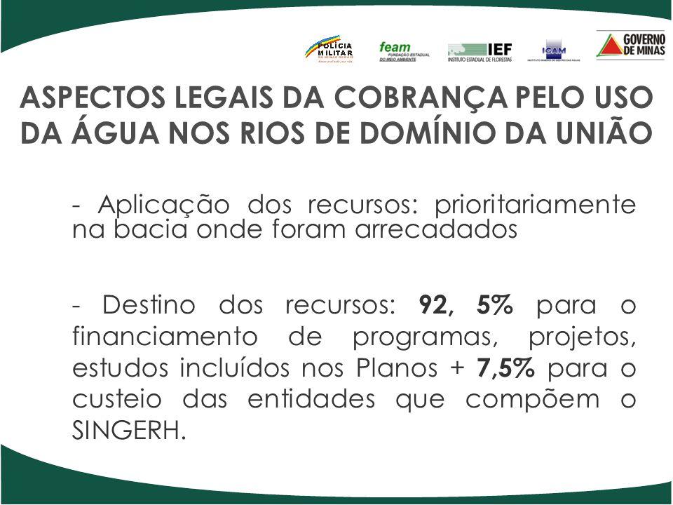 ASPECTOS LEGAIS DA COBRANÇA PELO USO DA ÁGUA NOS RIOS DE DOMÍNIO DA UNIÃO