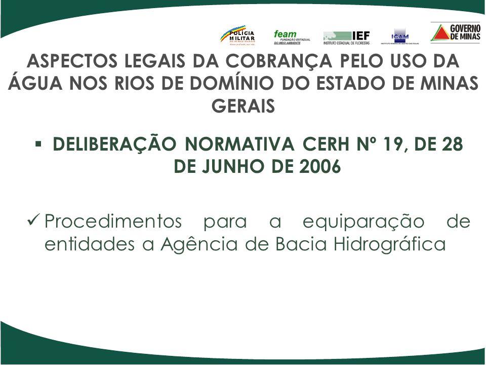 DELIBERAÇÃO NORMATIVA CERH Nº 19, DE 28 DE JUNHO DE 2006