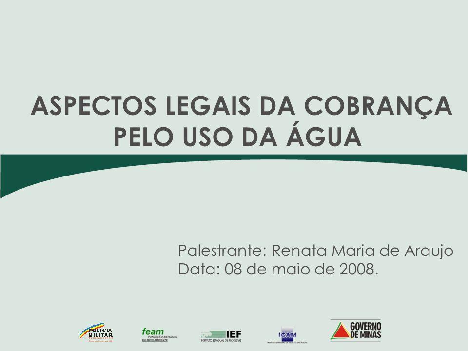 Palestrante: Renata Maria de Araujo Data: 08 de maio de 2008.