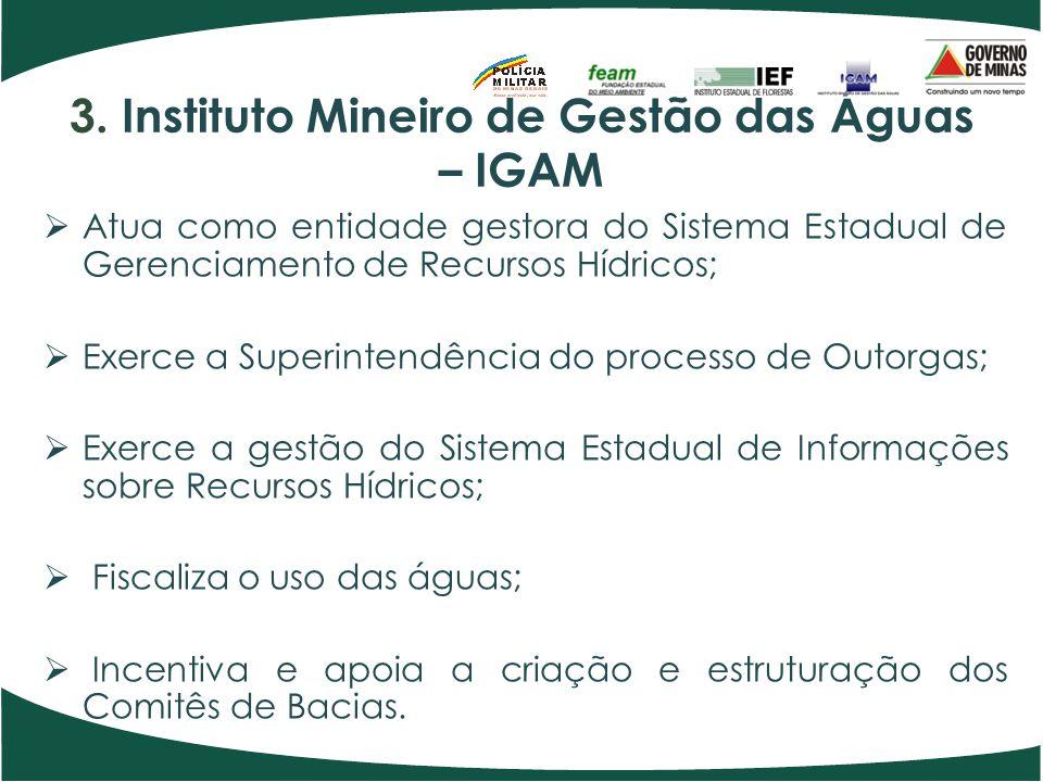 3. Instituto Mineiro de Gestão das Águas – IGAM