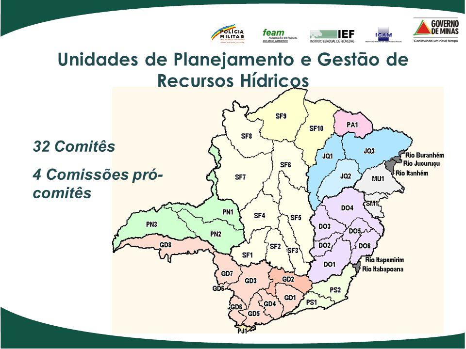 Unidades de Planejamento e Gestão de Recursos Hídricos