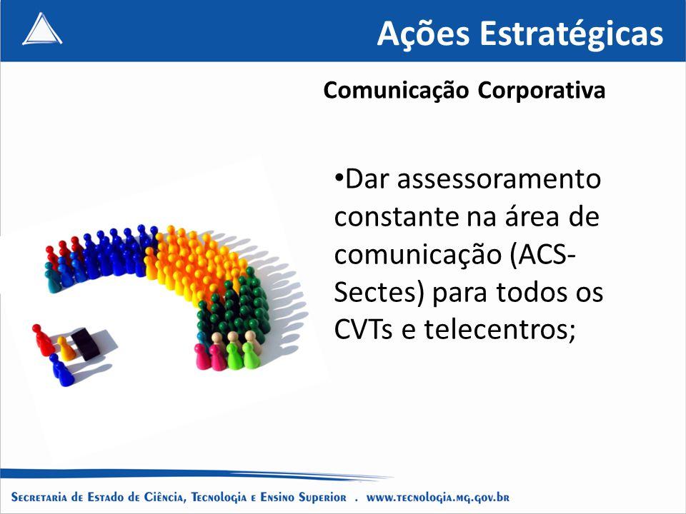 Ações Estratégicas Comunicação Corporativa.