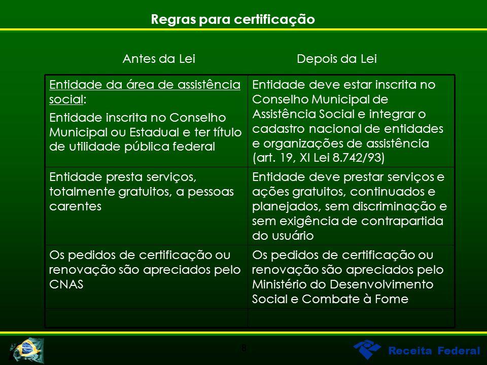 Regras para certificação