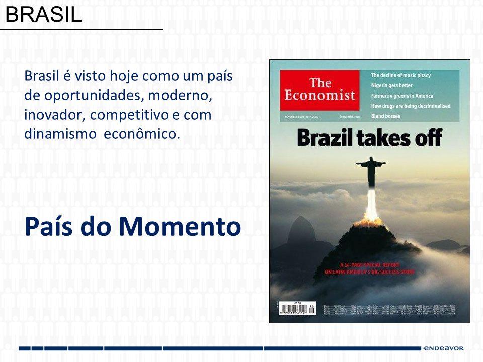 BRASIL Brasil é visto hoje como um país de oportunidades, moderno, inovador, competitivo e com dinamismo econômico.