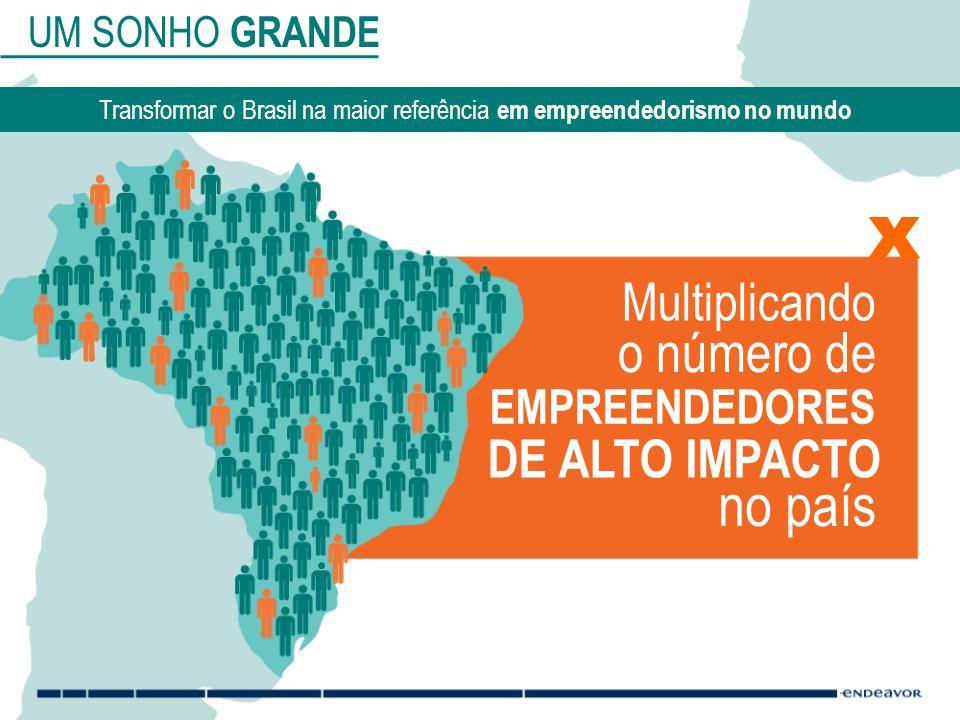 x no país o número de Multiplicando DE ALTO IMPACTO EMPREENDEDORES