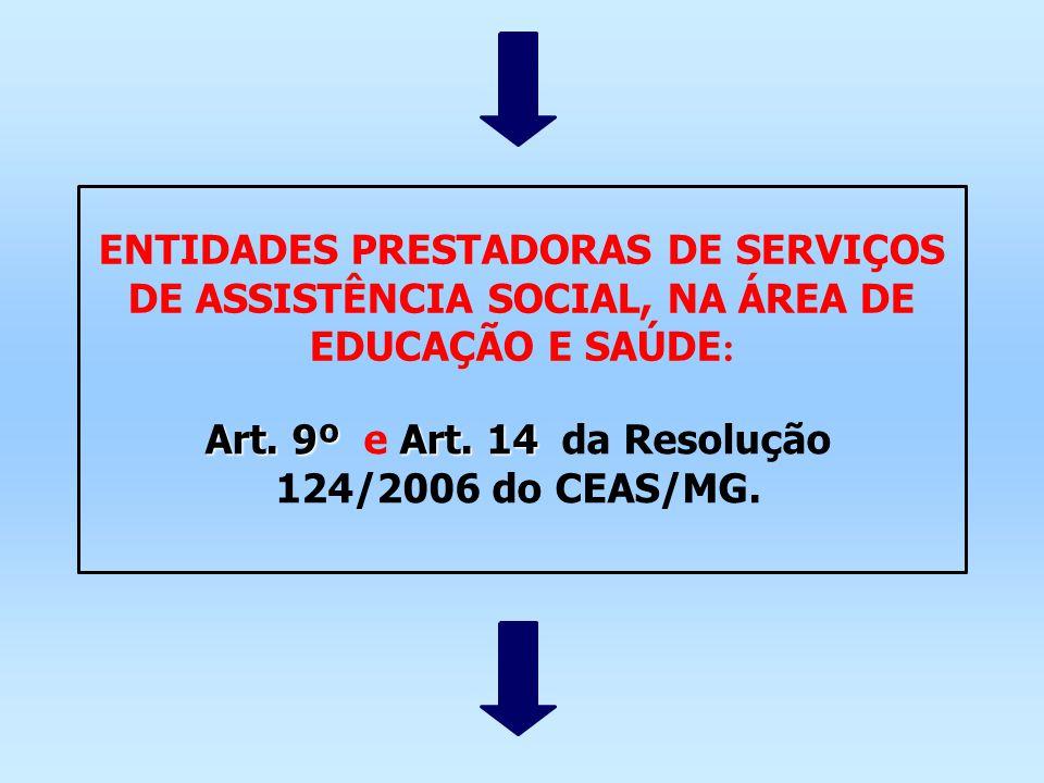 ENTIDADES PRESTADORAS DE SERVIÇOS