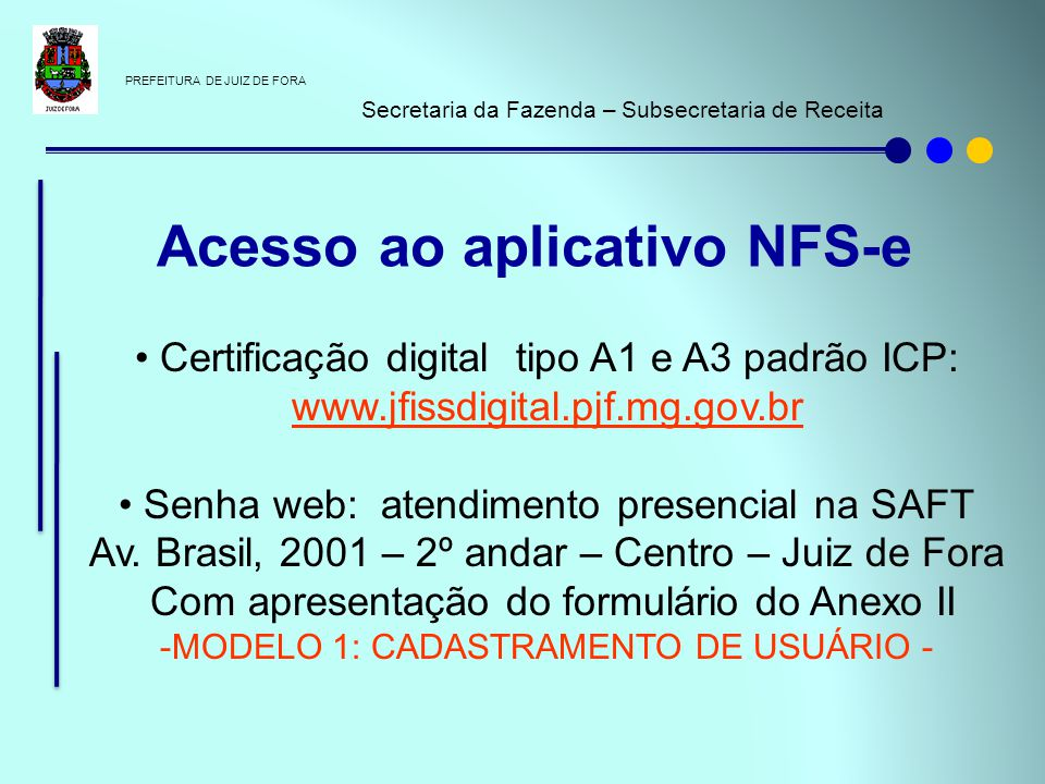 Acesso ao aplicativo NFS-e