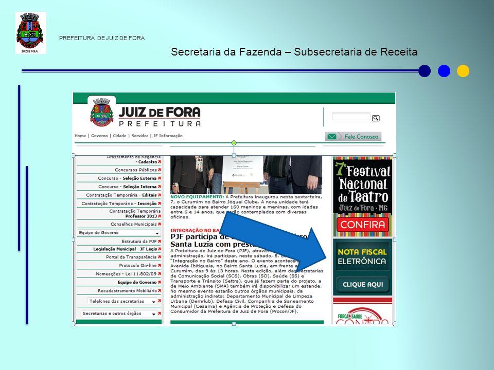 Secretaria da Fazenda – Subsecretaria de Receita
