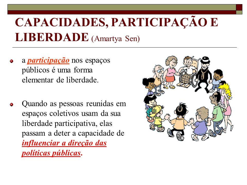 CAPACIDADES, PARTICIPAÇÃO E LIBERDADE (Amartya Sen)