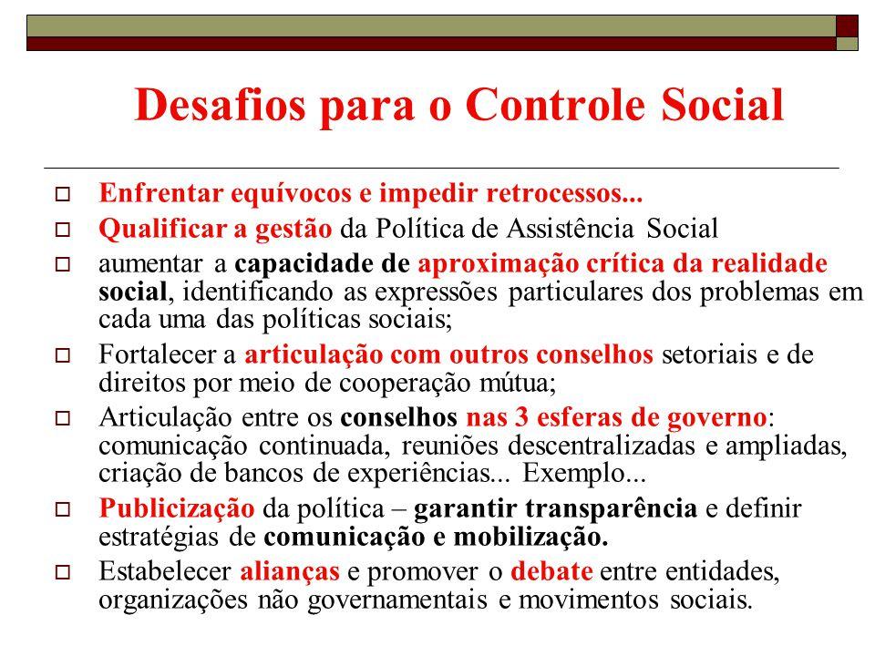 Desafios para o Controle Social