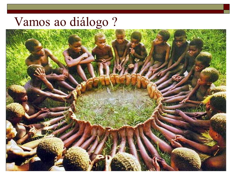 Vamos ao diálogo