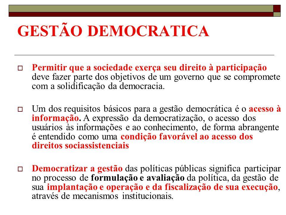 GESTÃO DEMOCRATICA