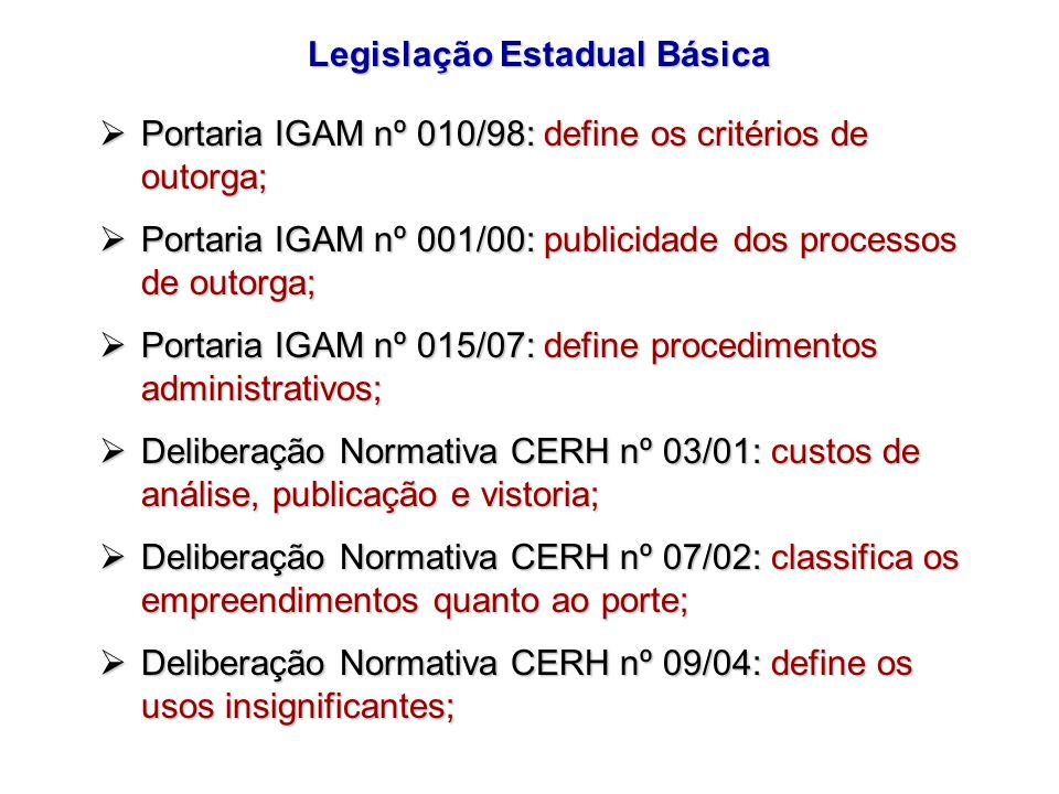 Legislação Estadual Básica
