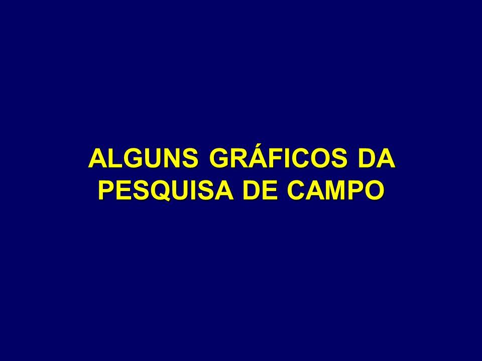 ALGUNS GRÁFICOS DA PESQUISA DE CAMPO