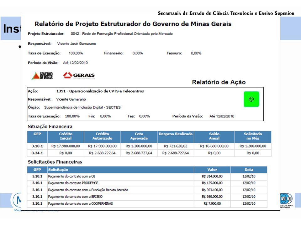 Instrumentos Status Report