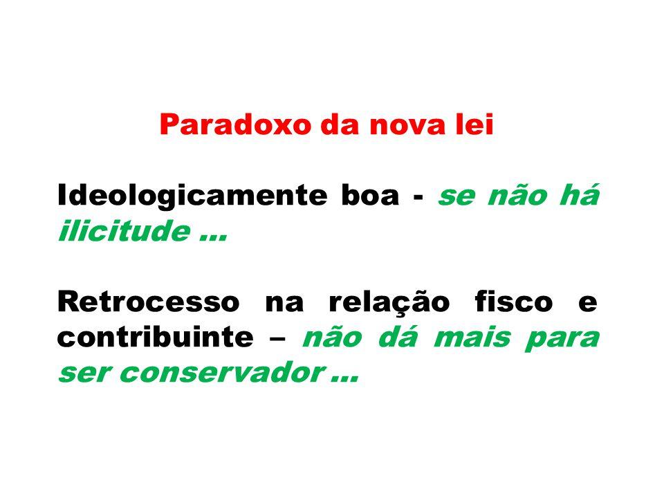 Paradoxo da nova lei Ideologicamente boa - se não há ilicitude ...