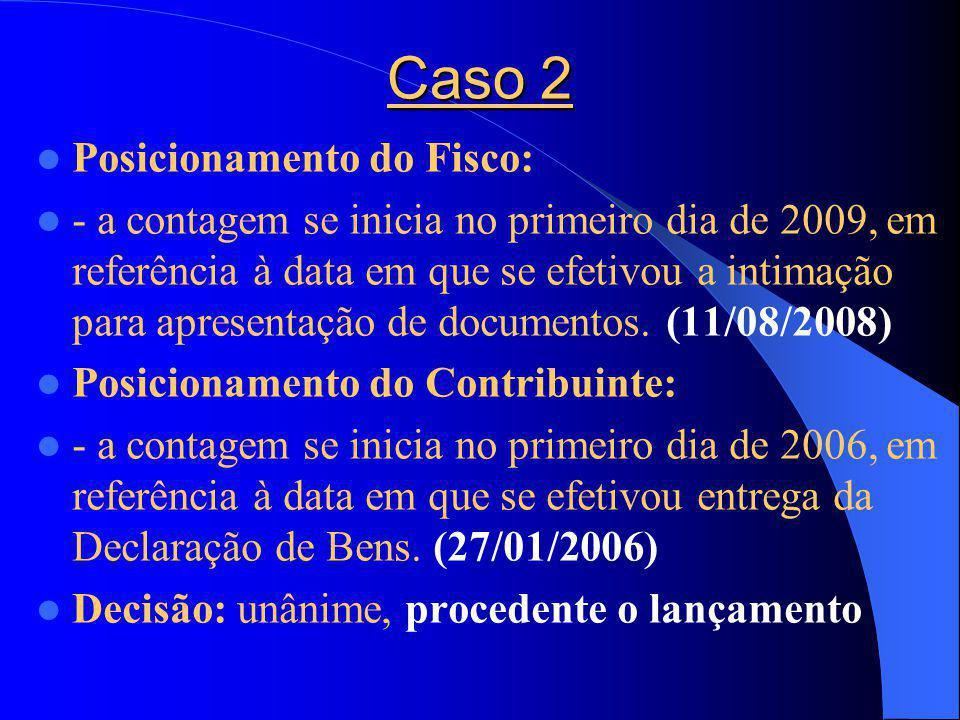Caso 2 Posicionamento do Fisco: