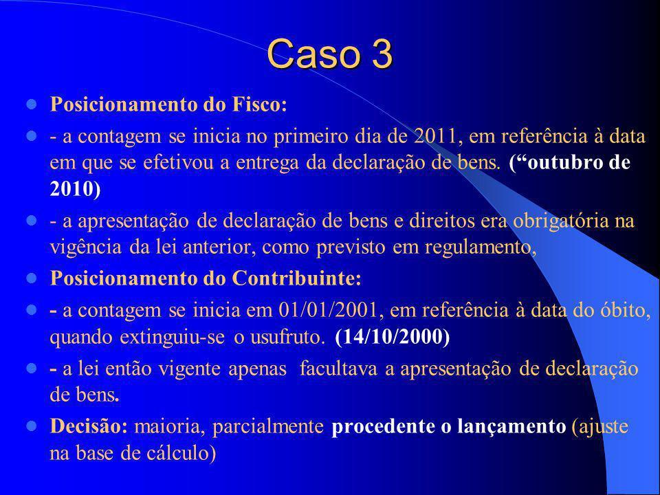Caso 3 Posicionamento do Fisco: