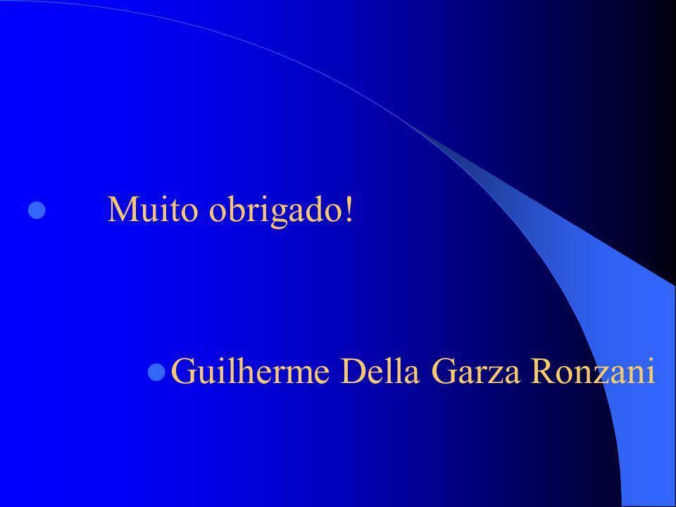 Muito obrigado! Guilherme Della Garza Ronzani