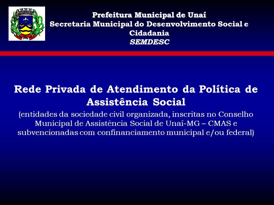 Rede Privada de Atendimento da Política de Assistência Social