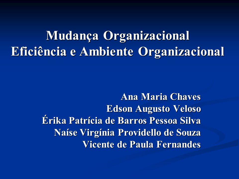 Mudança Organizacional Eficiência e Ambiente Organizacional