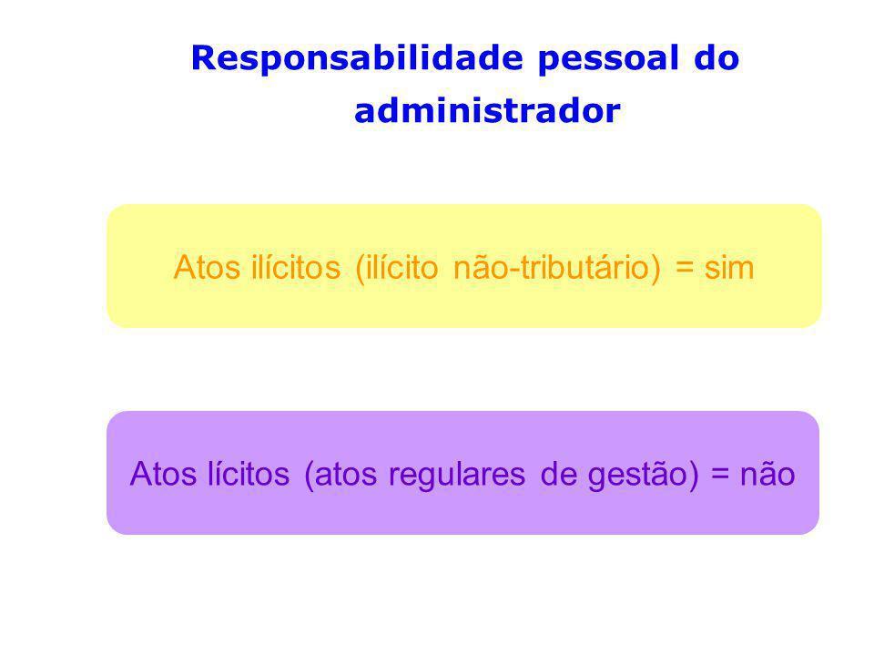 Responsabilidade pessoal do administrador