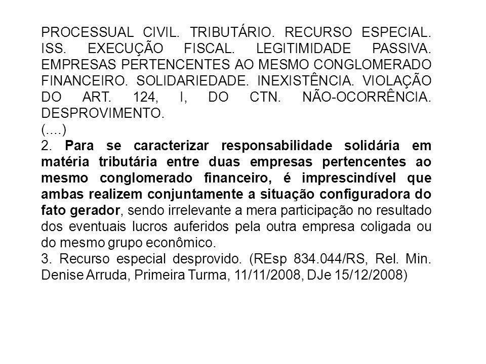 PROCESSUAL CIVIL. TRIBUTÁRIO. RECURSO ESPECIAL. ISS. EXECUÇÃO FISCAL