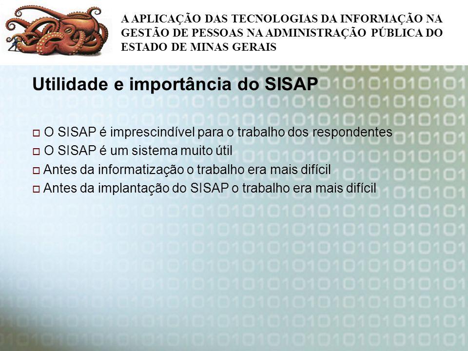 Utilidade e importância do SISAP
