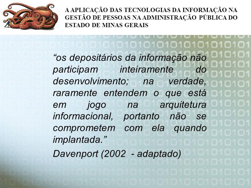 Davenport (2002 - adaptado)