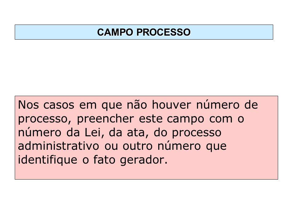 CAMPO PROCESSO