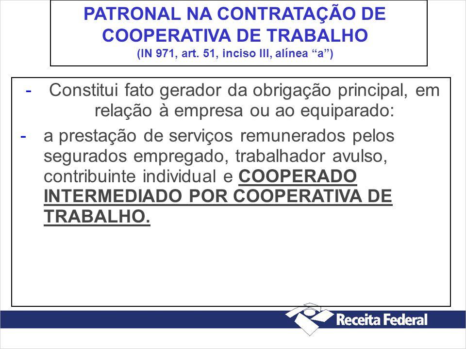 PATRONAL NA CONTRATAÇÃO DE COOPERATIVA DE TRABALHO