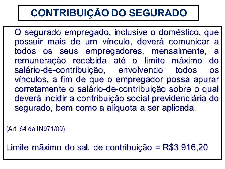 CONTRIBUIÇÃO DO SEGURADO