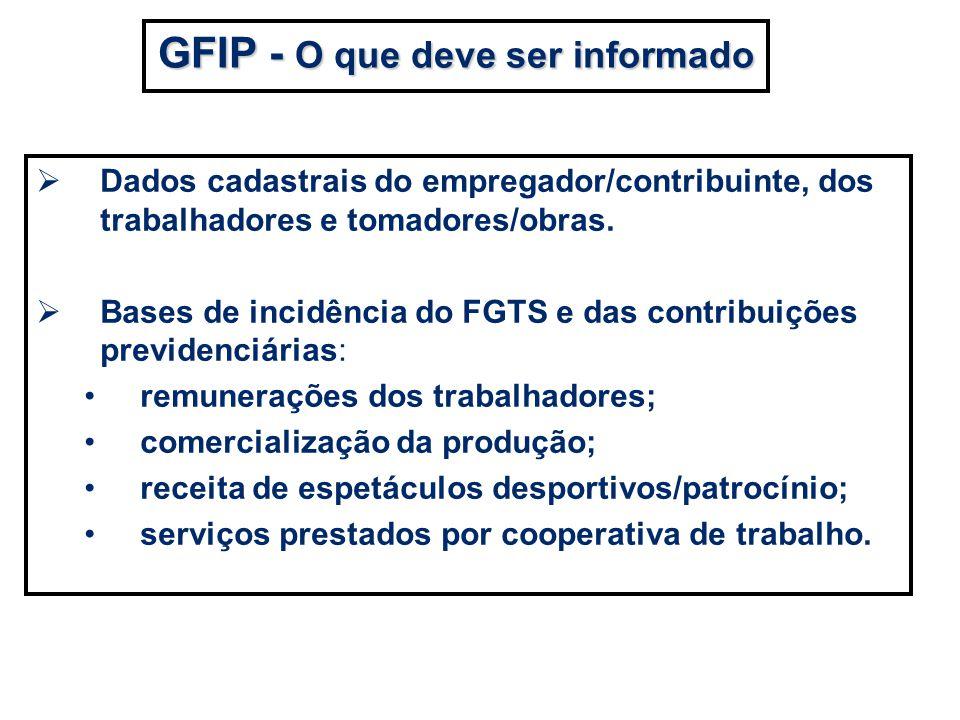 GFIP - O que deve ser informado
