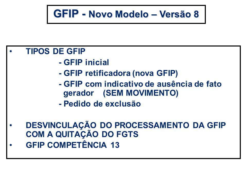 GFIP - Novo Modelo – Versão 8