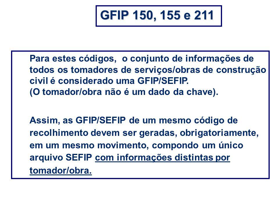 GFIP 150, 155 e 211